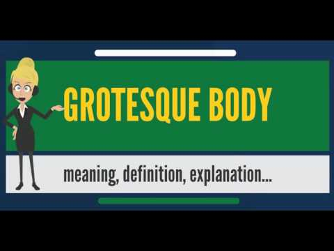 grotesque character definition