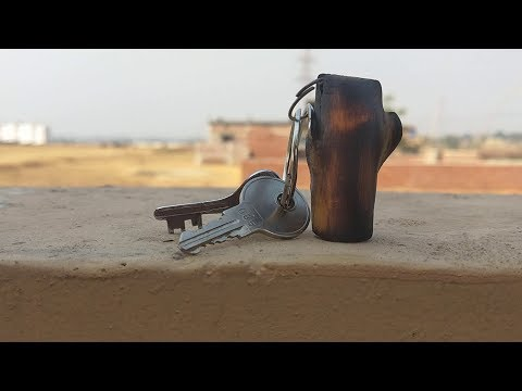How to make a Wooden keychain, DiY keychain