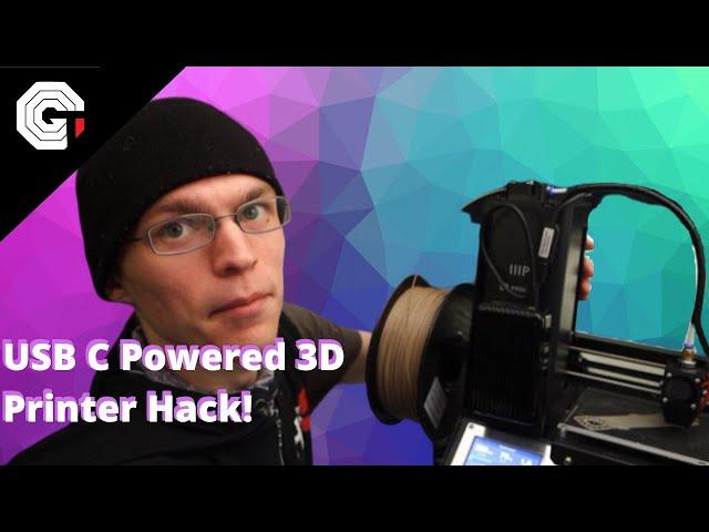 Hacking a 3D Printer to run on USB-C Power w/ Glytch!