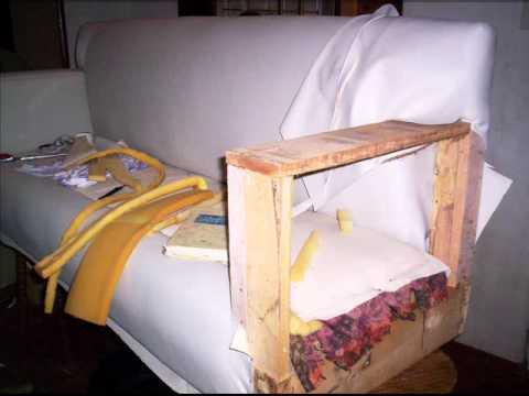 Viejo sill n cama a sof moderno youtube - Como arreglar un sofa viejo ...