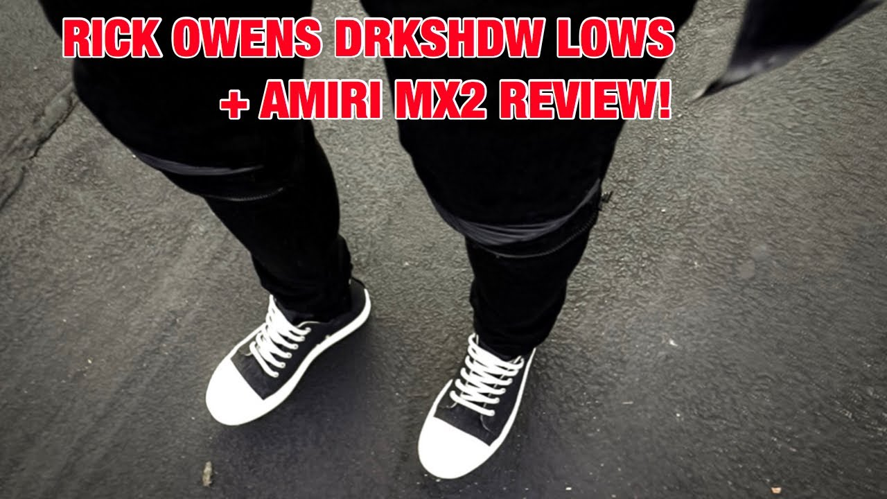 rick owens ramones low top