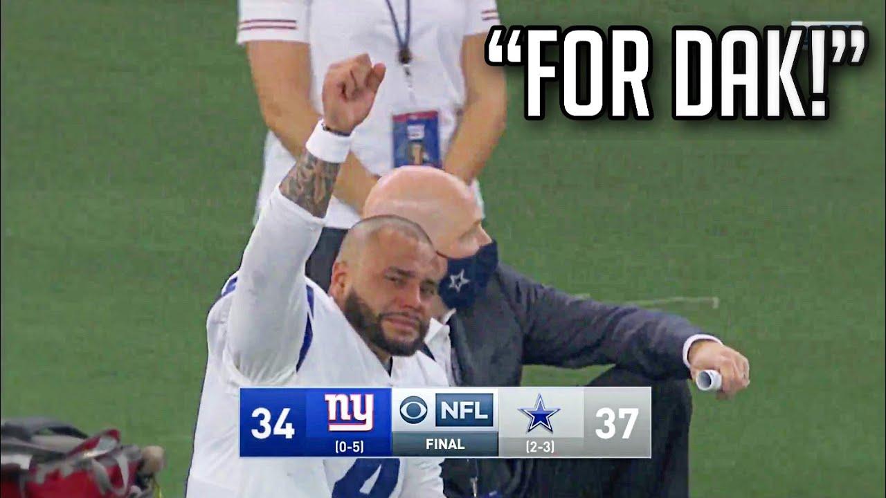 NFL Players Reactions To Dak Prescott Injury / Cowboys Emotional Comeback Win || HD