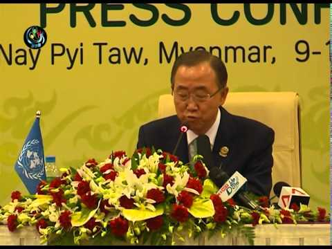 DVB - Ban Ki Moon press conference in NayPyiTaw