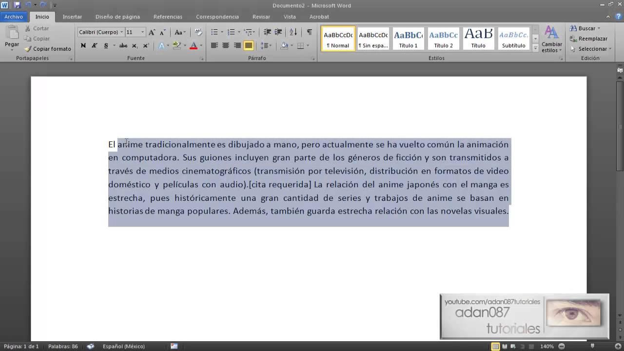 Word poner texto en cursiva con el teclado youtube - Como poner molduras de escayola ...