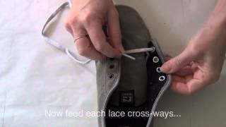 How to lace your shoes: criss cross