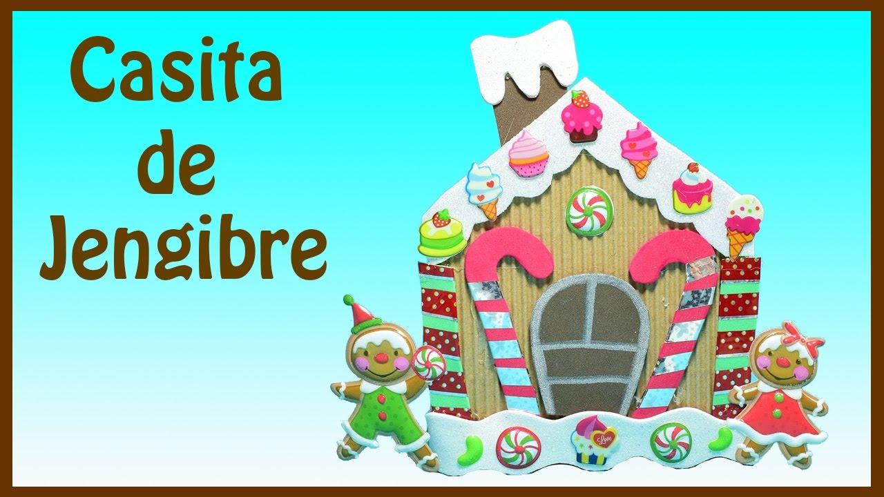 Manualidades para navidad casita de jengibre el mundo de myg youtube - Cosas de navidad para hacer en casa ...