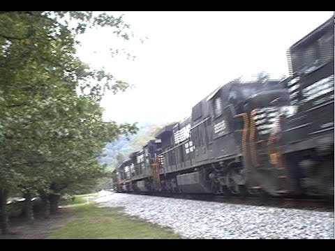 Busy NS Freight Railway Line Collegedale Tennessee