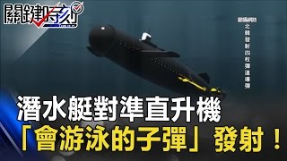 「克服水阻」潛水艇對準空中直升機 「會游泳的子彈」發射!! 關鍵時刻 20170414-5 傅鶴齡 舒夢蘭