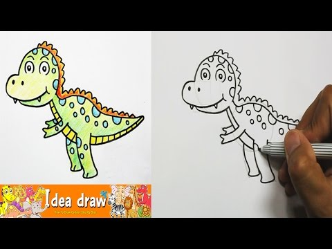 How to draw Tyrannosaurus