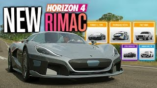 Forza Horizon 4 NEW Update 10 Cars, Rimac C Two, Fiat Dino, X-BOW GT4 and MORE!
