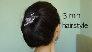 видео Как красиво заколоть волосы крабиком