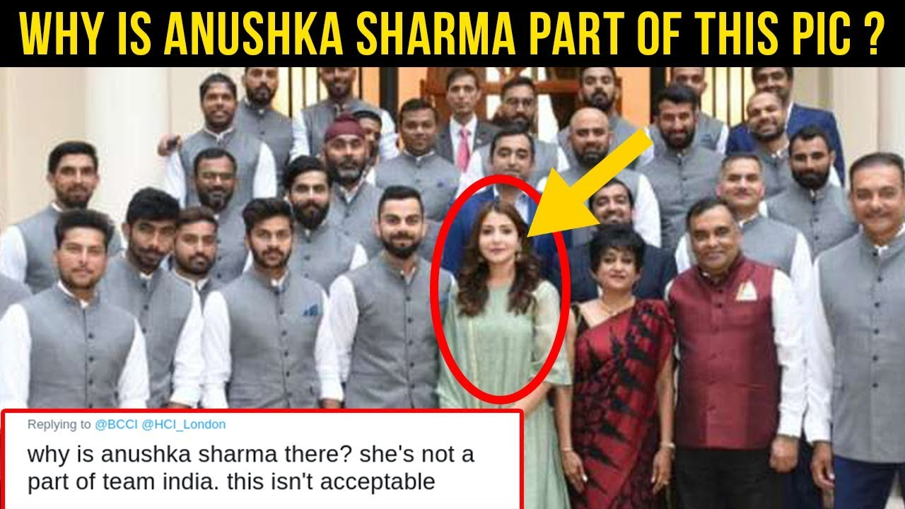 Anushka Sharma INSULTED For Photo With Indian Cricket Team | Indian High  Commission Dinner With BCCI - YouTube