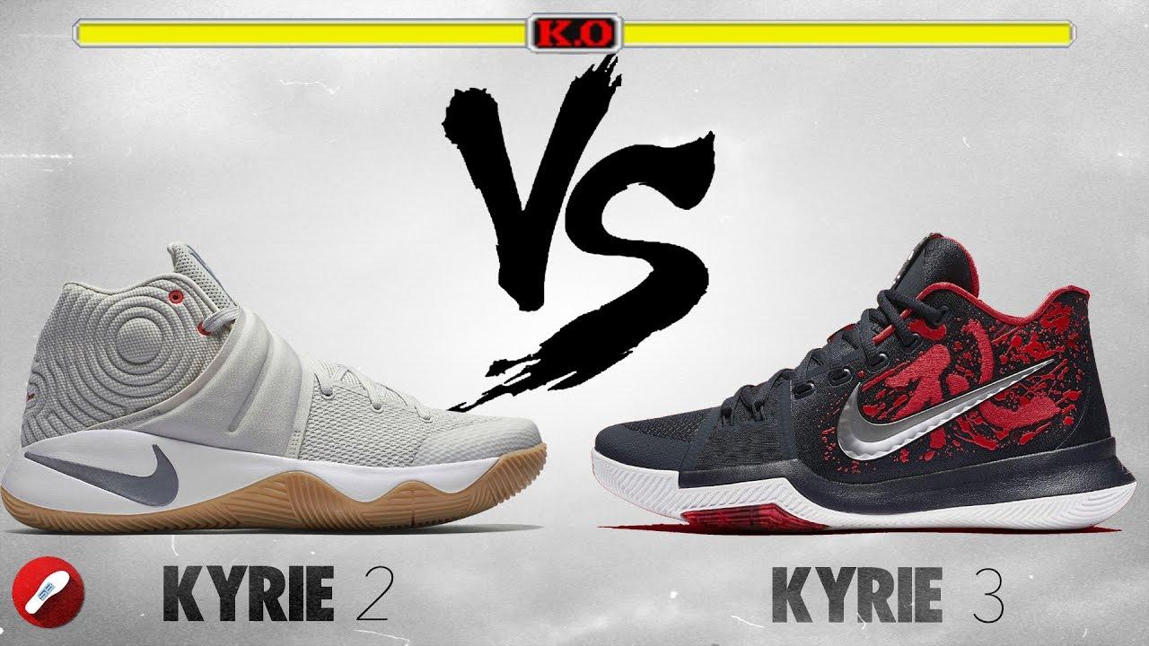 finest selection 117e1 a064b Nike Kyrie 2 vs. Kyrie 3! - YouTube