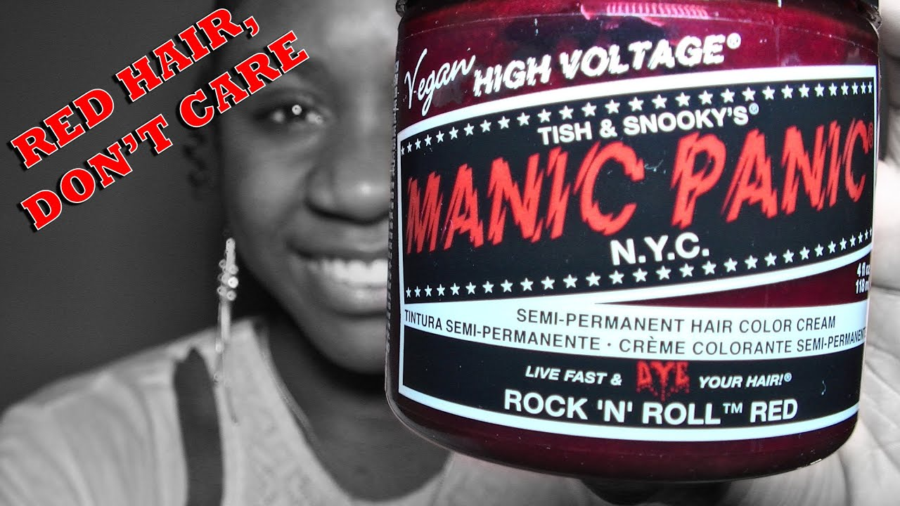 10 Red Hair Manic Panic Hair Dye Review Youtube
