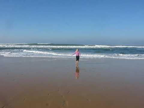 Wellen Atlantik bei Biarritz