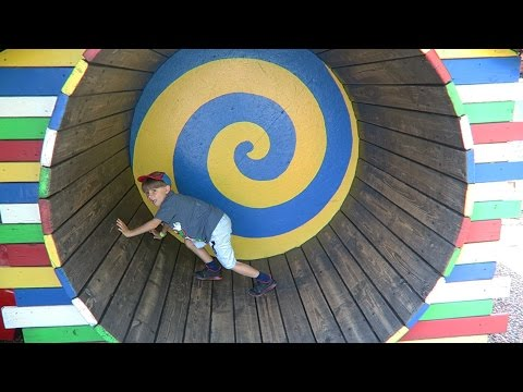 Weekend Family Fun Outdoor Playground Park - Jump Slide Run