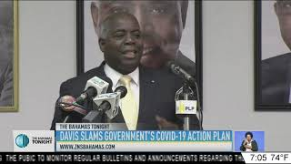 DAVIS SLAMS GOVERNMENTS COVID-19 ACTION PLAN