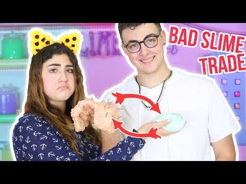 SWAP A SLIME | BAD SLIME TRADE CHALLENGE | fix each other slime | Slimeatory #90