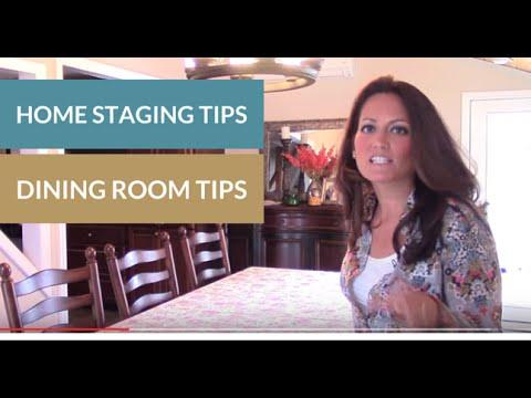 home staging dining room tips youtube. Black Bedroom Furniture Sets. Home Design Ideas