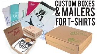 how to make custom boxes and mailers for your tshirt business