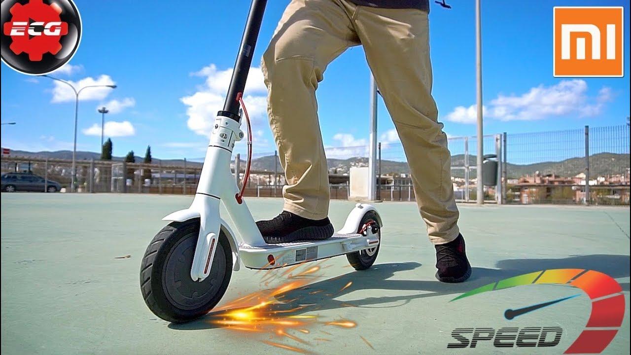 Acelerador patinete funciona electrico como