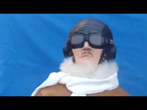 Perfect-Pilots 1/3 scale animated head pilot for RC model planes