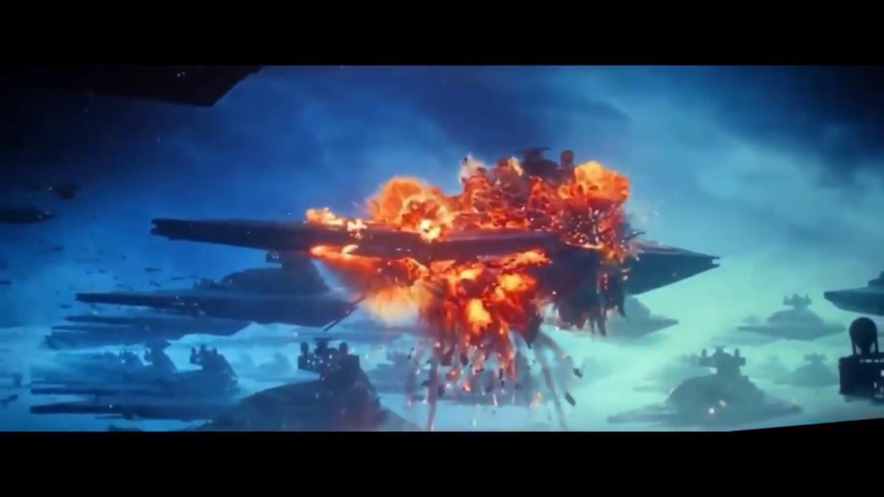 Star Wars The Rise Of Skywalker Battle Of Exegol Star Destroyer Explosion Youtube