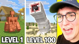 Minecraft Mobs From Level 1 To 100