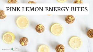 How To Make Pink Lemon Energy Bites | Gluten-Free, Quick, Healthy Recipe | Limoneira