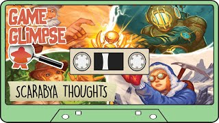 SCARABYA BOARD GAME REVIEW THOUGHTS - Blue Orange Games Scarab Collecting