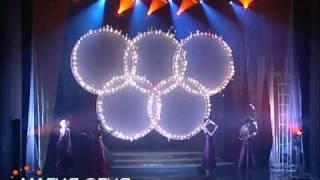 видео: Горящие олимпийские кольца магия огня www.magicfire.ru