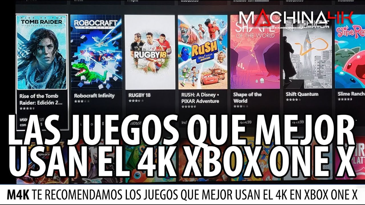 Juegos Favoritos Para Aprovechar Tu Xbox One X En Tu Tv 4k Video