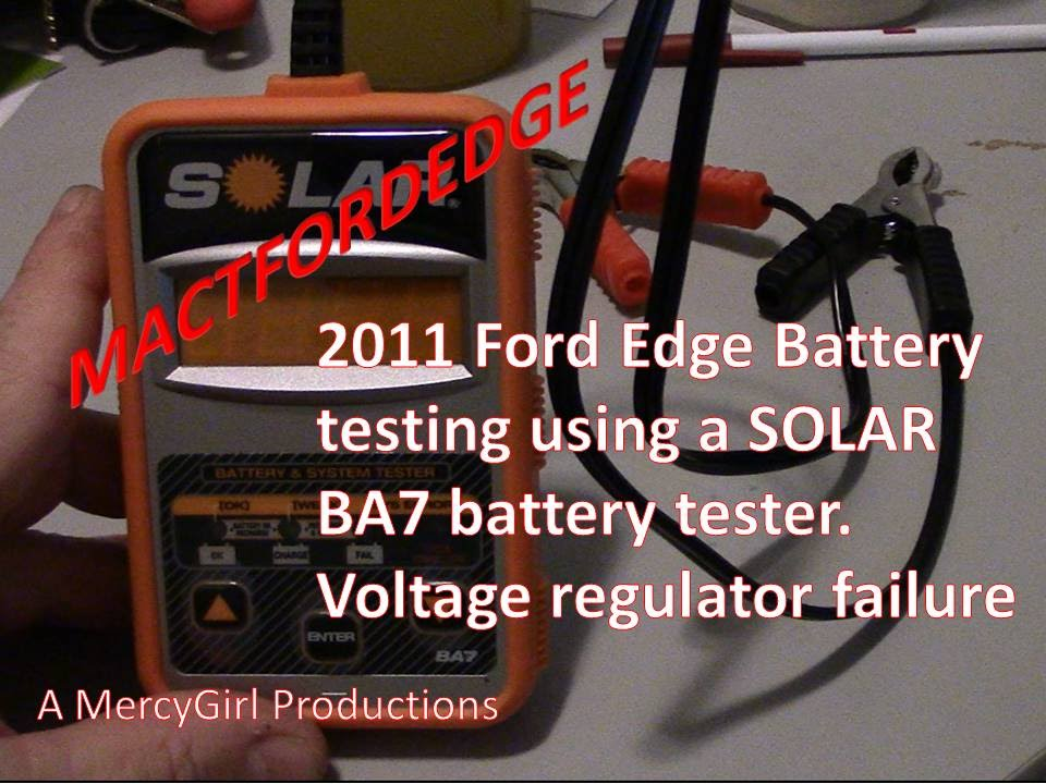 Ford Edge Battery  Failing Voltage Regulator  Charging