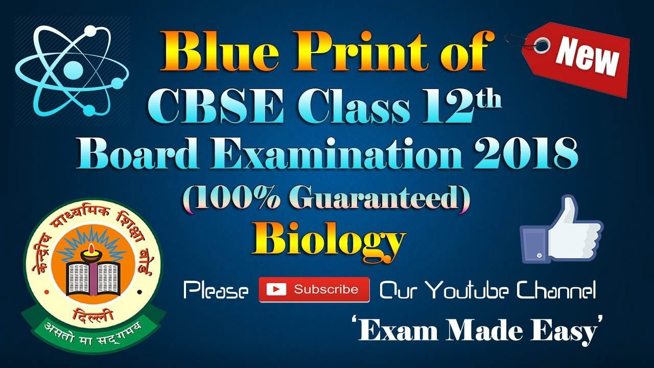 Blue print of biology cbse class 12th board examination structure blue print of biology cbse class 12th board examination structure and pattern of cbse exam 2018 malvernweather Images