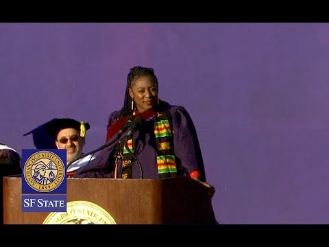 Black Lives Matter co-founder Alicia Garza represents grad students with powerful speech