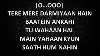Tere Mere | Armaan Malik | Original high quality Karaoke with lyrics
