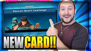NEW CARD!! RASCALS CHALLENGE LIVE!! 12 WINS PUSH - Clash Royale