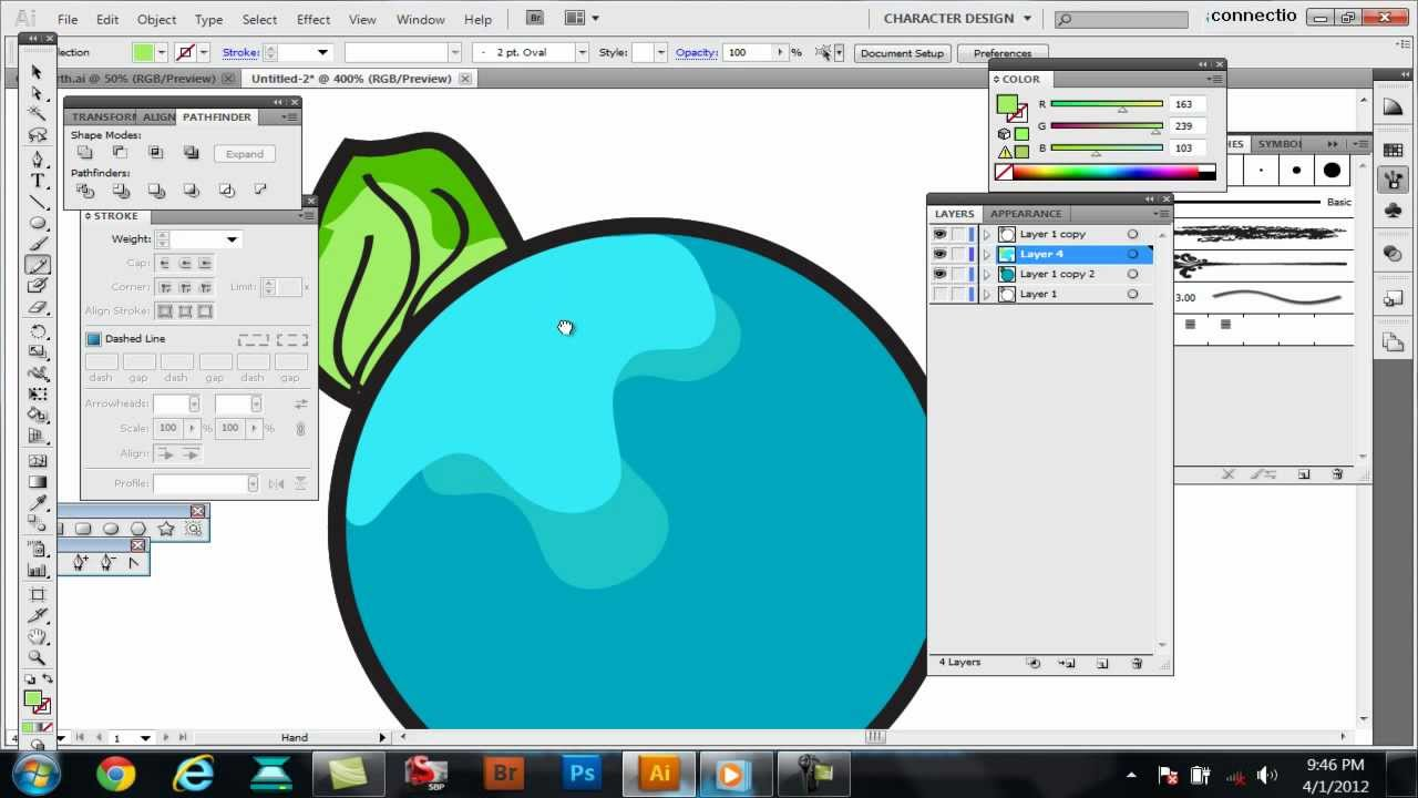 Tutorial-How to color,shade,color separate in Adobe Illustrator CS5 ...
