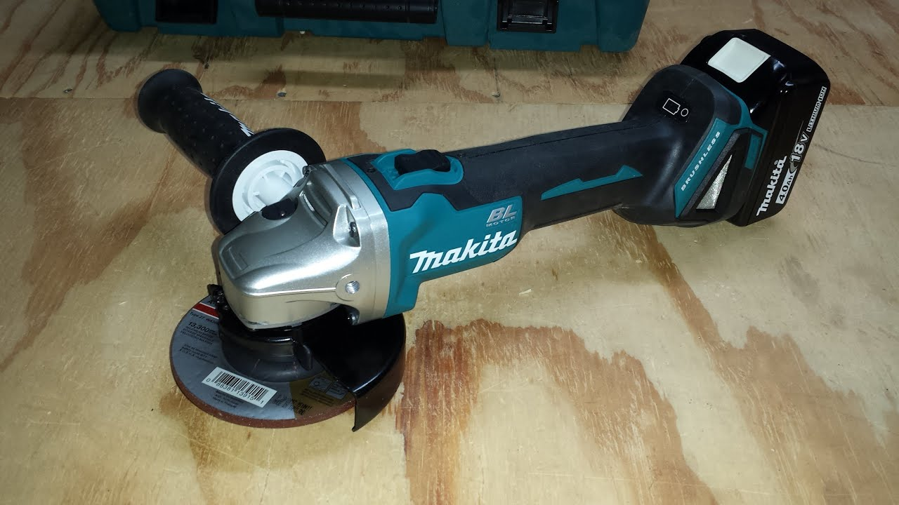 makita cordless brushless angle grinder review youtube. Black Bedroom Furniture Sets. Home Design Ideas