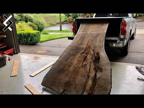 $10,000 Dining Table Build - Reclaimed Epoxy Table - How to Woodworking