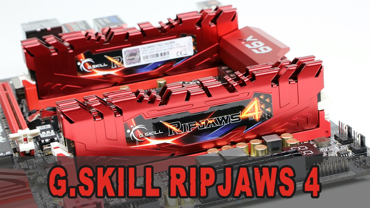 Review] G.Skill RipJaws 4 DDR4-2400 CL15 16GB Kit - Unboxing & Review (German) - YouTube