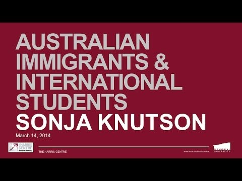 Synergy Session: Australian Immigrants and International Students - What can we learn?