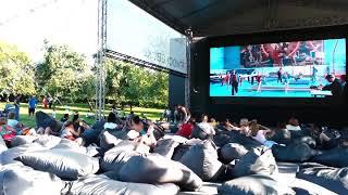 Кино в парке Ангарские пруды.