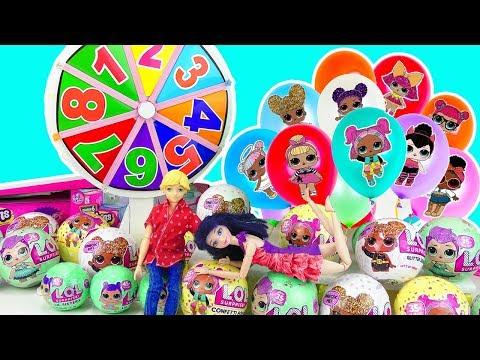 LOL jugando con Globos de Muñecas LOL con Marinette y Adrien