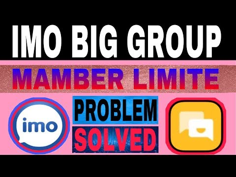 How to add member over 500 in Imo Big Group || Imo Big Group mamber limit problem solved