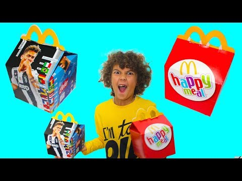 HAPPY MEAL dei CALCIATORI vs. Happy Meal Lego Movie 2