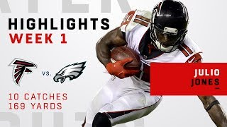 Julio Jones' 10 Catches for 169 Yards vs. Eagles