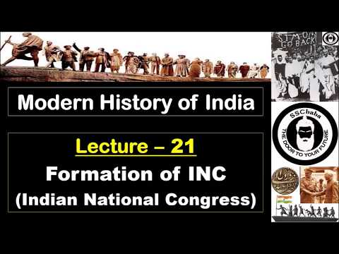 H21 : Formation of Indian National Congress