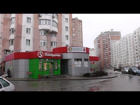 Поликлиника №7, многоэтажка и Пятёрочка рядышком. Россия (Russia), Lipetsk (Липецк).