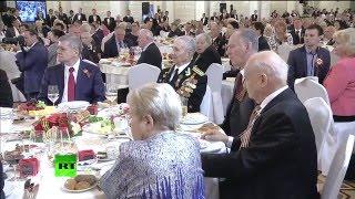 Владимир Путин принимает ветеранов в Кремле